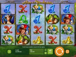 Zábavný casino automat Alice in Wonderslots