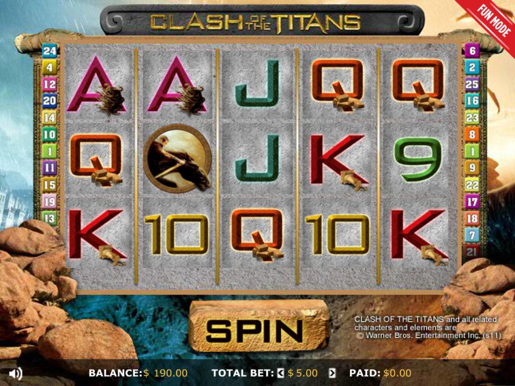 Obrázek z online casino automatu Clash of the Titans