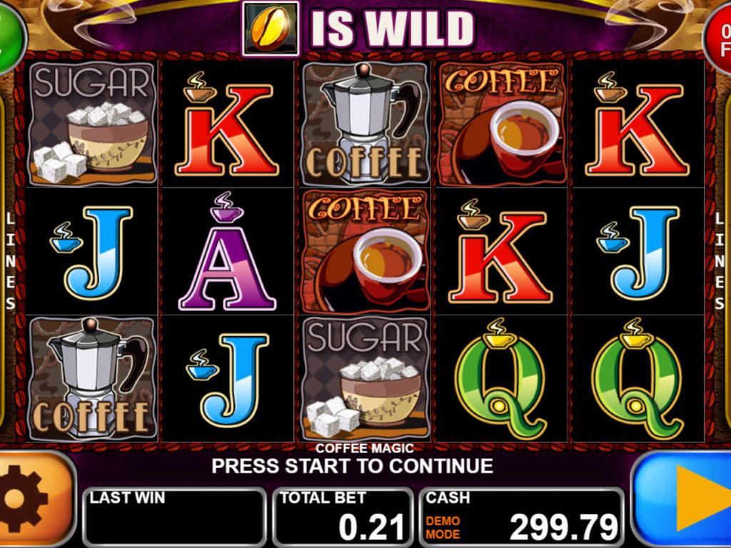 Zahrajte si zábavný casino automat Coffee Magic