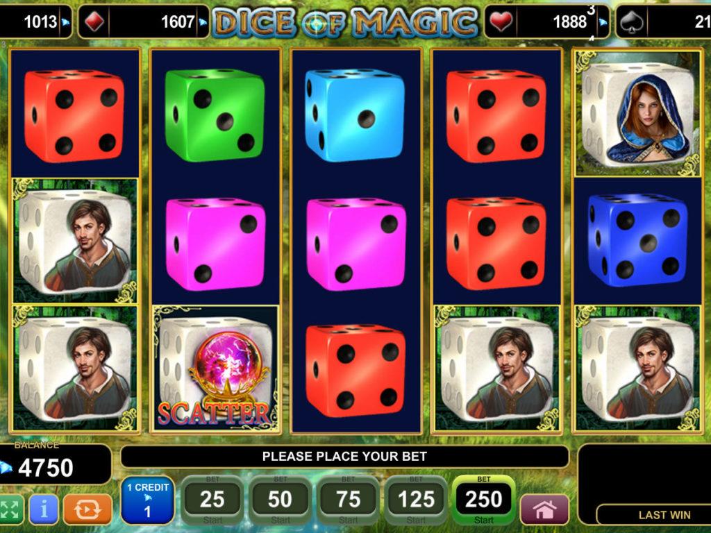 Casino automat Dice of Magic bez registrace