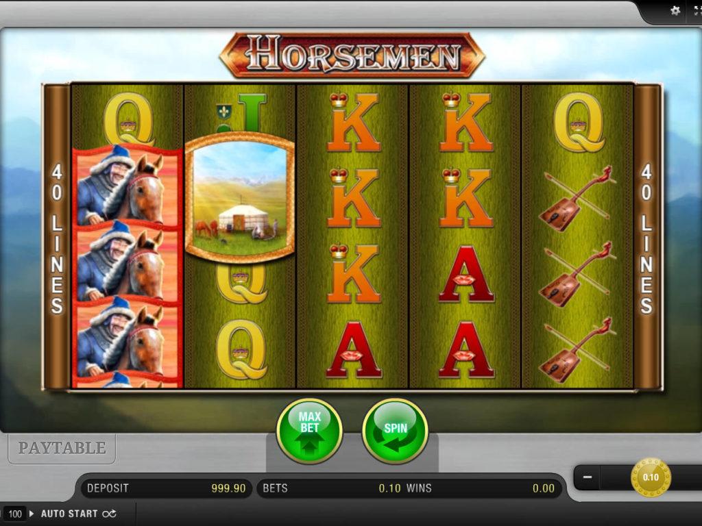 Obrázek casino automatu Horsemen