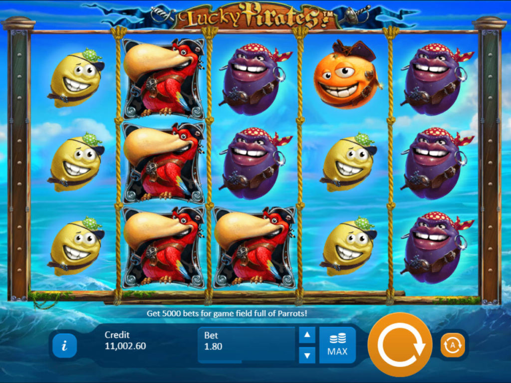 Zábavný casino automat Lucky Pirates