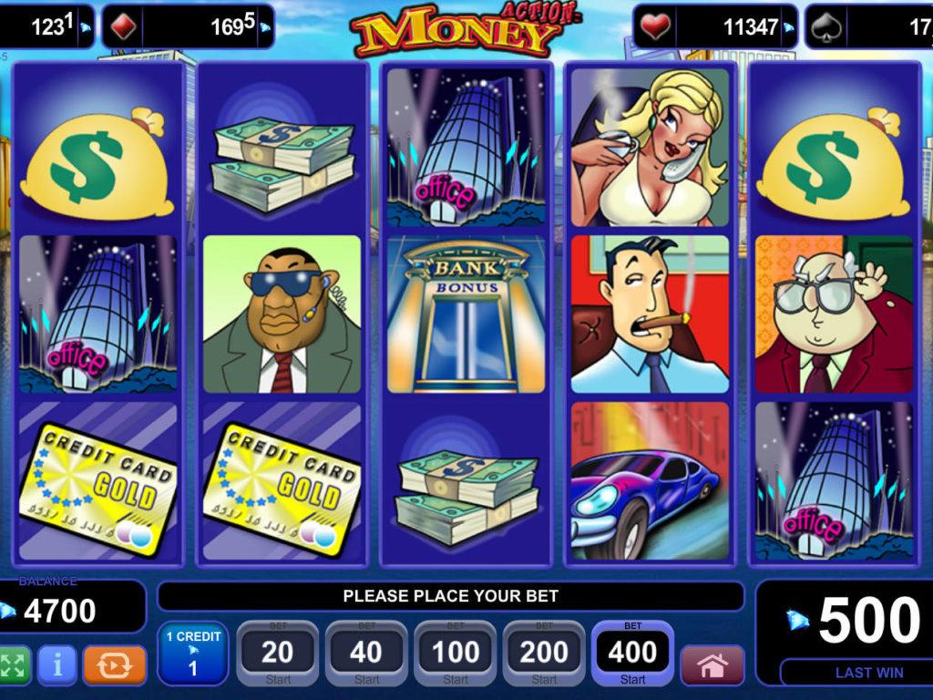 Online casino automat Action Money zdarma