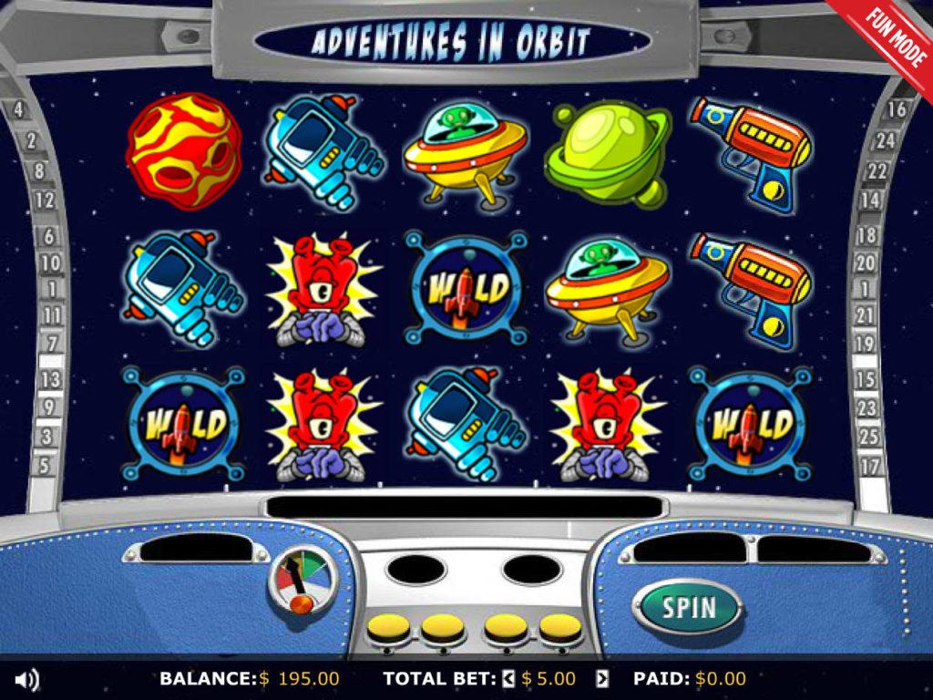 Zábavný online casino automat Adventures in Orbit