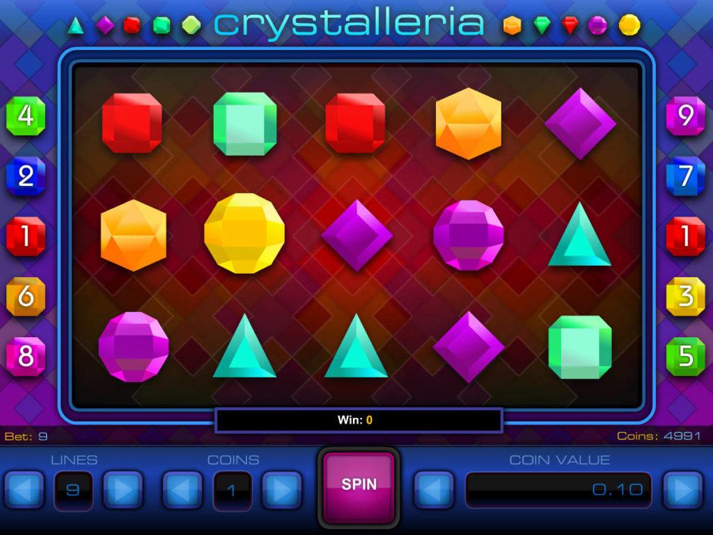 Roztočte online casino automat Crystalleria zdarma