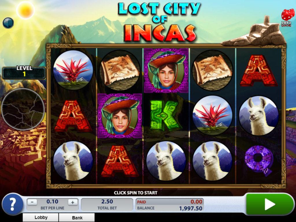 Zahrajte si online casino automat Lost City of Incas zdarma