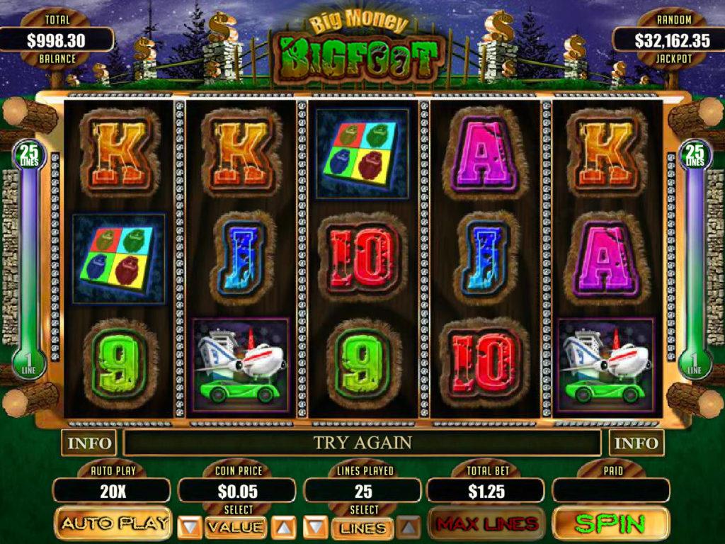 Online herní automat Big Money Bigfoot zdarma