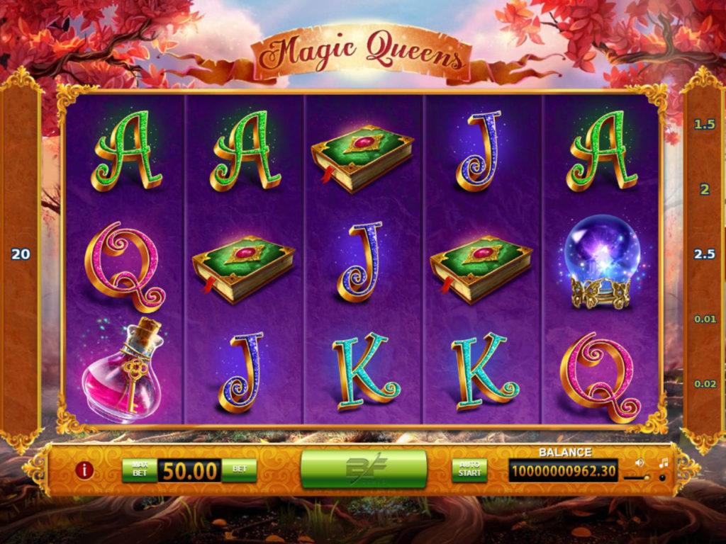 Online casino automat Magic Queens