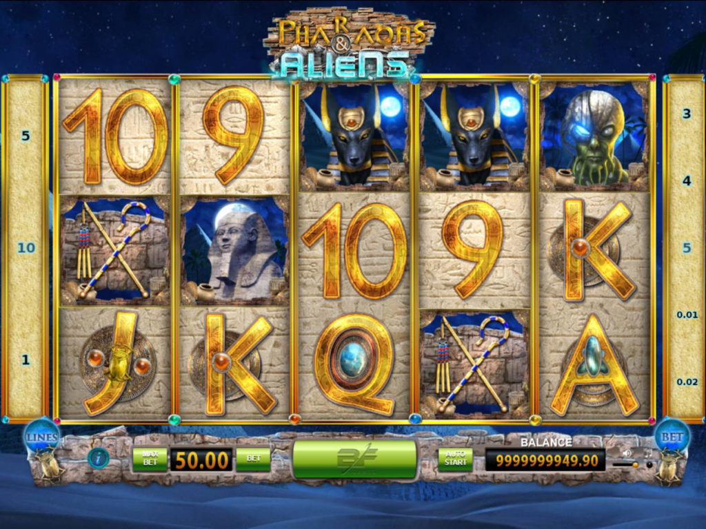 Online casino automat Pharaohs and Aliens zdarma