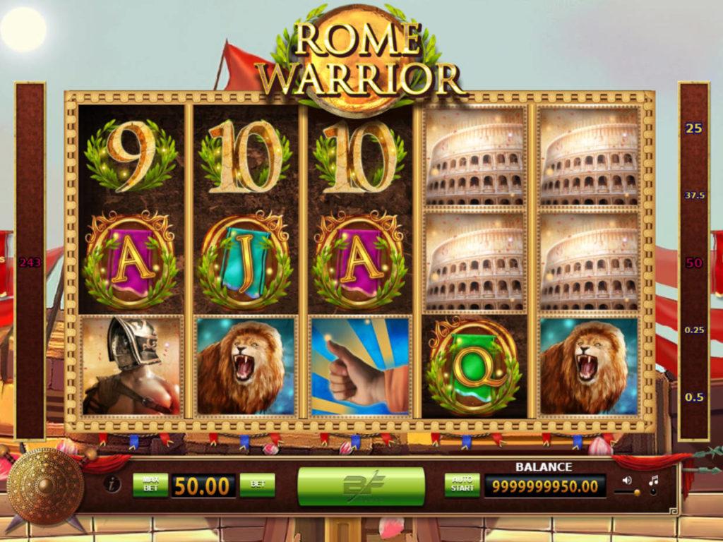 Casino automat Rome Warrior bez vkladu