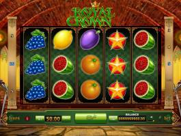 Online casino automat Royal Crown zdarma, bez vkladu