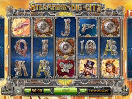 Casino automat Steampunk Big City zdarma