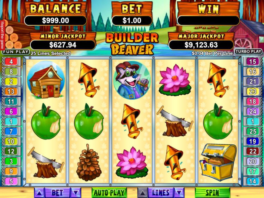 Online casino automat Builder Beaver bez registrace