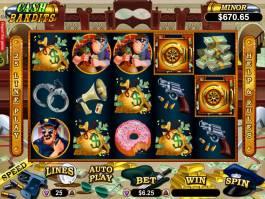 Zábavný online herní automat Cash Bandits