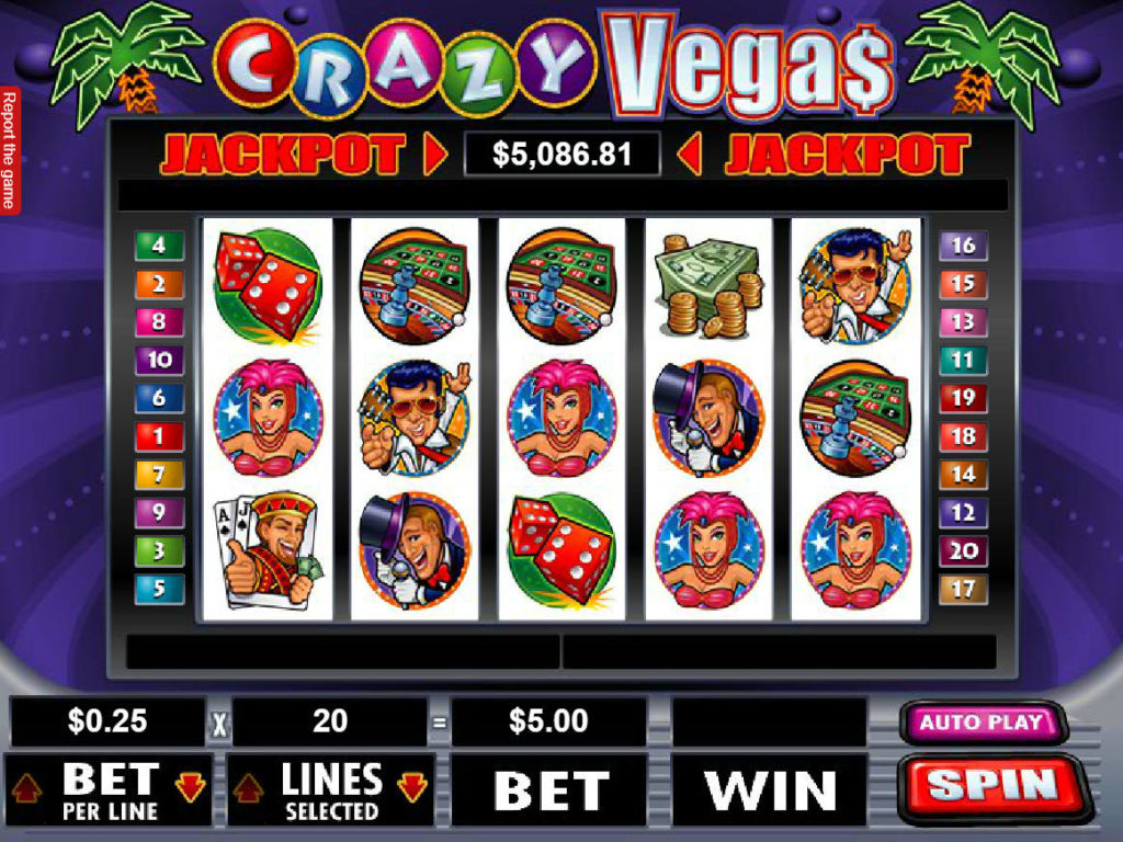 Casino automat Crazy Vegas bez stahování