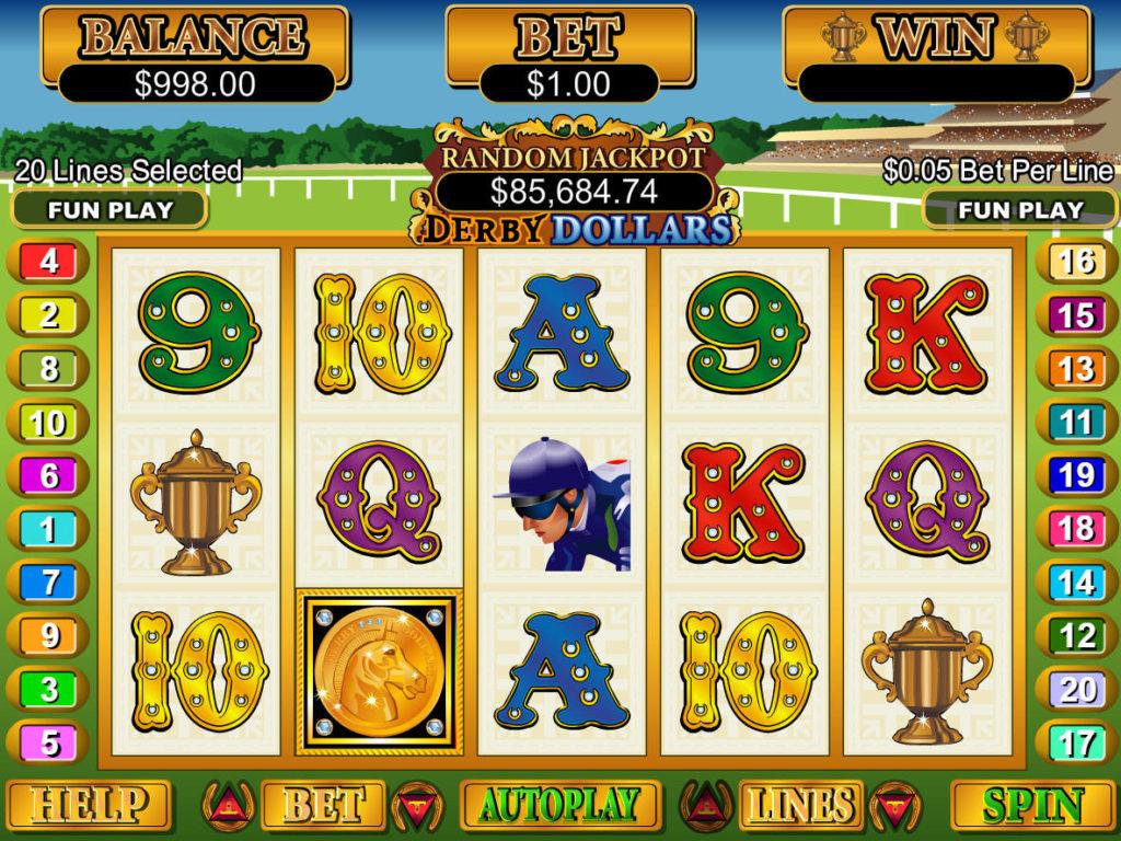 Zahrajte si casino automat Derby Dollars zdarma