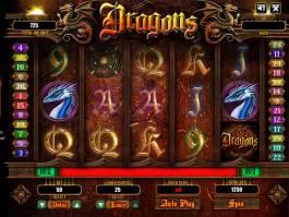 Herní automat bez vkladu Dragons