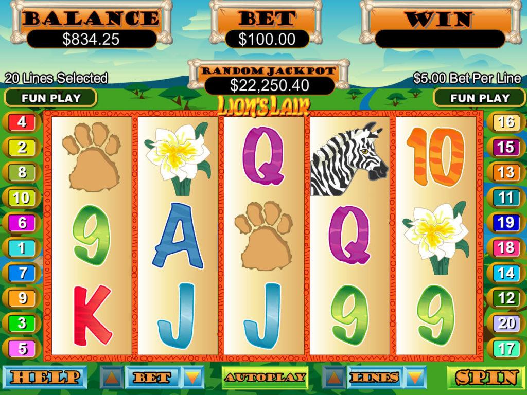 Roztočte casino automat Lion´s Lair zdarma