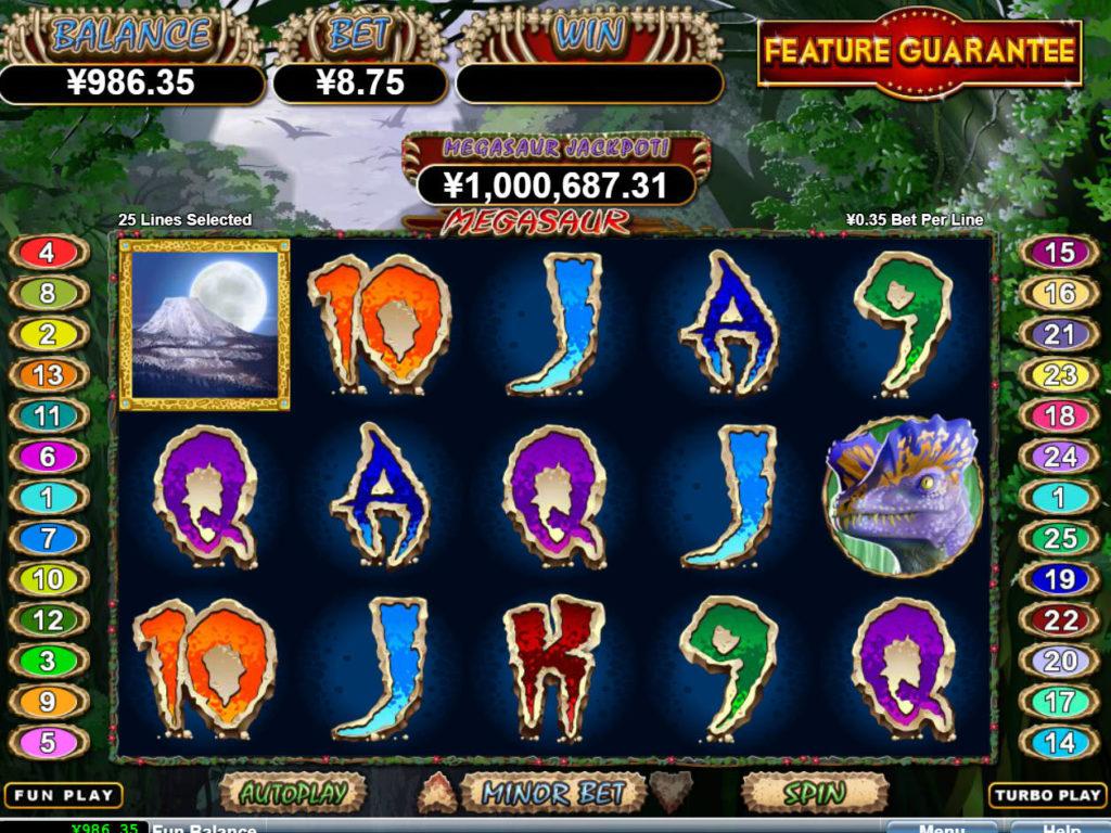 Casino automat Megasaur bez vkladu