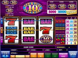 Online casino automat 10x Play zdarma