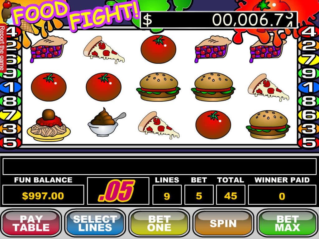 Obrázek z automatové casino hry Food Fight