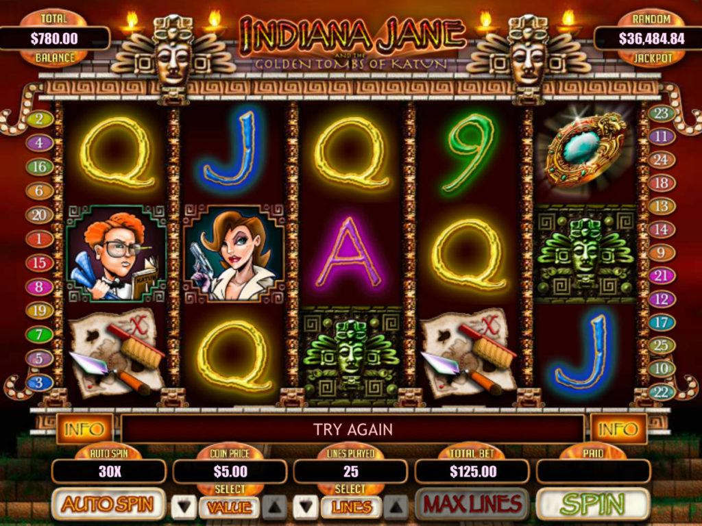 Online casino automat Indiana Jane zdarma