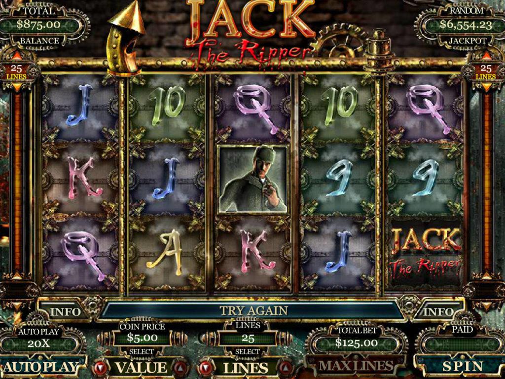 Online casino automat Jack the Ripper zdarma