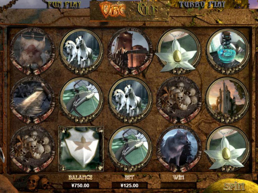 Online casino automat Orc vs Elf bez registrace