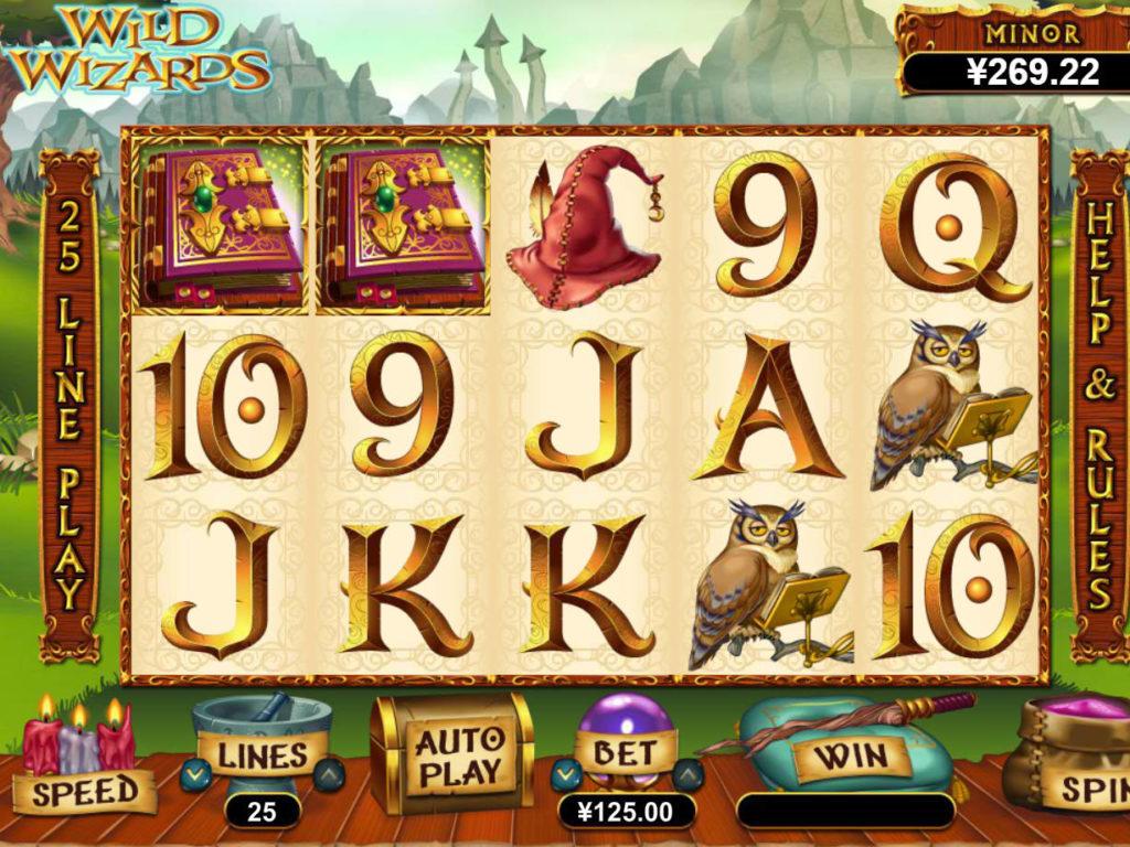 Zahrajte si casino automat Wild Wizards od společnosti RTG