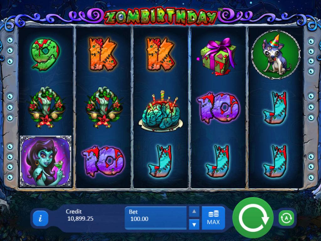 Zahrajte si online casino automat Zombirthday