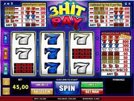 Casino automat 3 Hit Pay bez vkladu