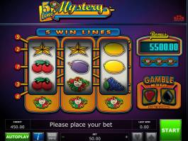 Obrázek online casino automatu 5 Line Mystery