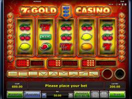 Online casino automat 7´s Gold Casino zdarma