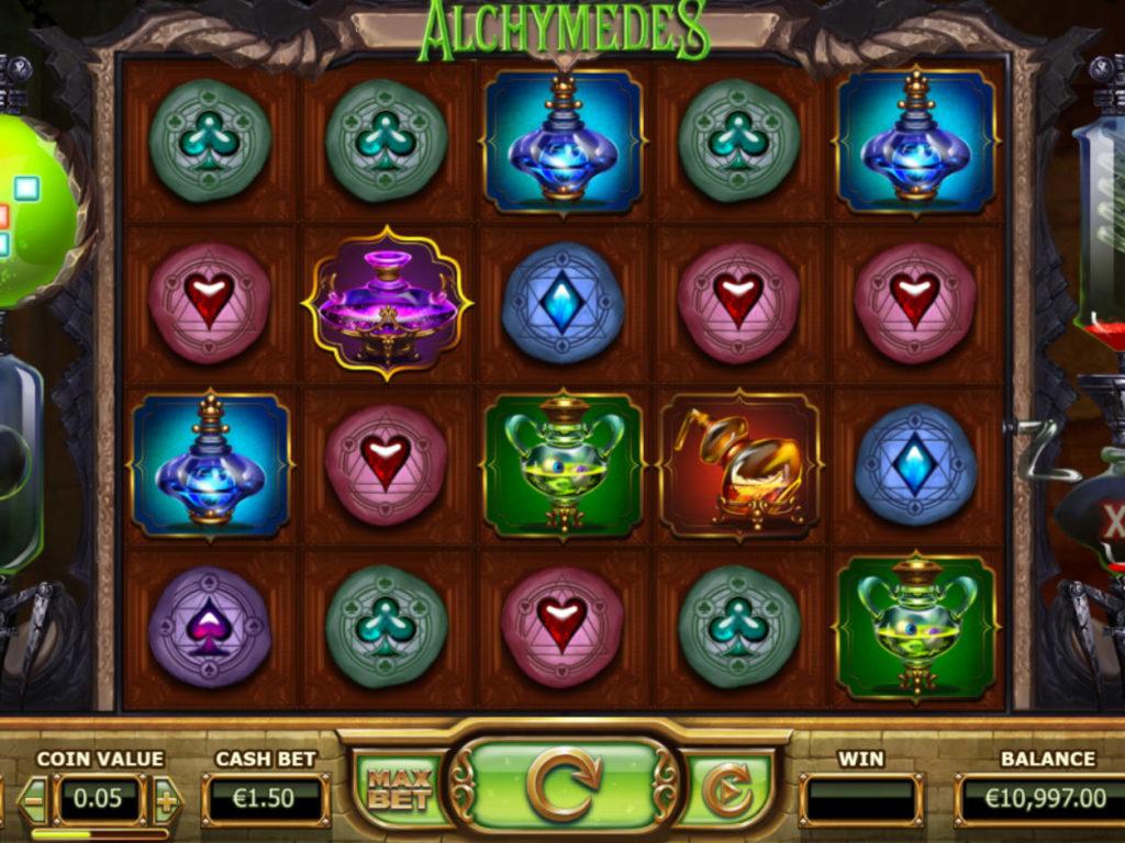 Zábavný casino automat Alchymedes
