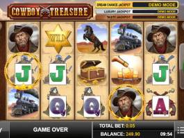 Zábavný online casino automat Cowboy Treasure zdarma