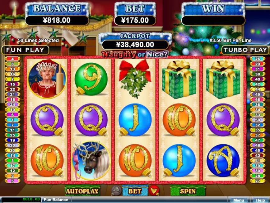 Roztočte válce casino automatu Naughty or Nice zdarma