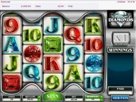 Online casino automat Diamonds zdarma, pro zábavu