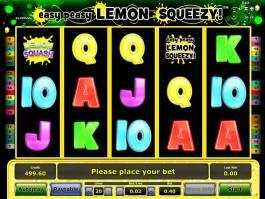 Online casino automat Easy Peasy Lemon Squeezy pro zábavu