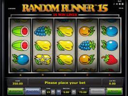 Online casino automat Random Runner 15 zdarma, bez vkladu