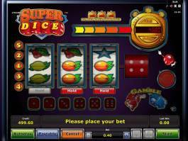 Casino automat Super Dice online