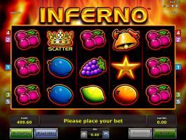 Automatová casino hra Inferno online zdarma