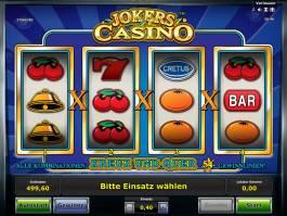 Hrací automat Jokers Casino zdarma