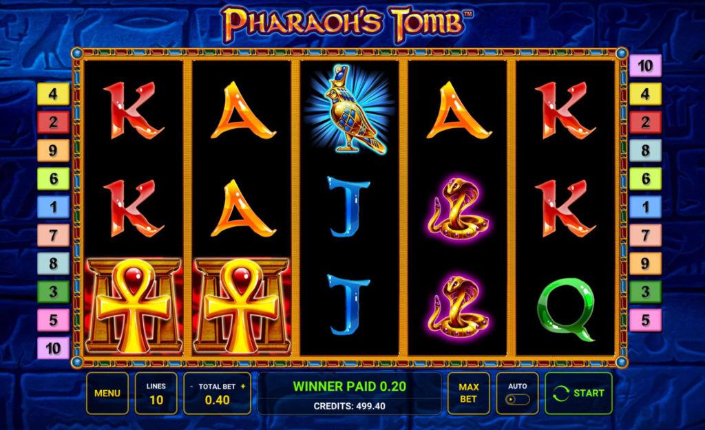 Casino hra Pharaoh's Tomb pro zábavu