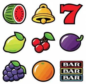 Fruit ovocné symboly z automatů