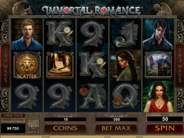 Immortal Romance casino automat bez registrace