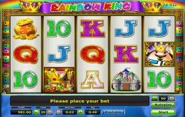 Hra casino automat Rainbow King pro zábavu