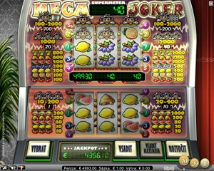 Výherní casino automat zdarma Mega Joker