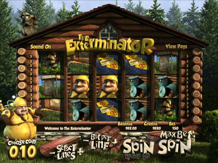 Online casino hrací automat The Exterminator zdarma