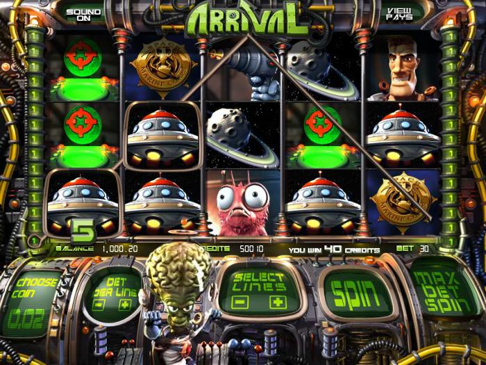 Herní casino automat zdarma Arrival bez registrace