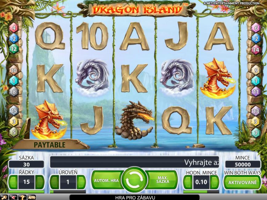 Výherní online automat Dragon Island